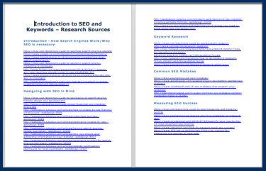 Introduction to SEO and Keywords - Research Sources