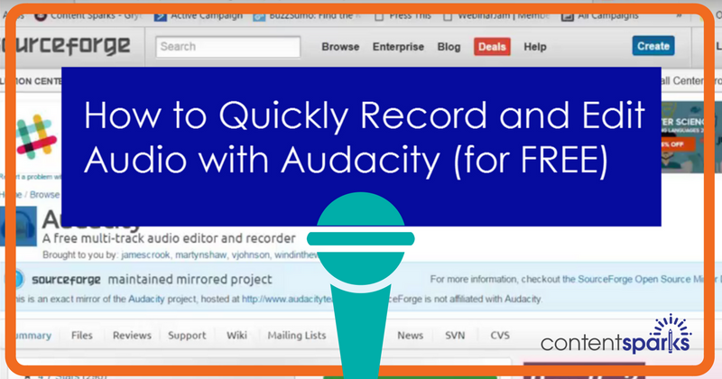 How to Quickly Record and Edit Your Audio (for Free) with Audacity