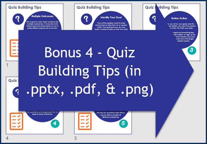 Quiz Building for Marketers - Bonus 4 Quiz Building Tips