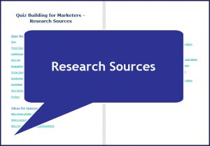 Quiz Building for Marketers - Research Sources