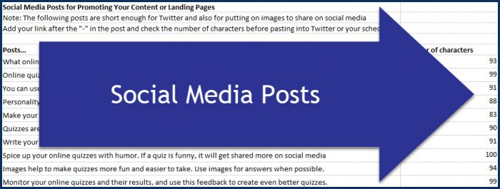 Quiz Building for Marketers - Social Posts