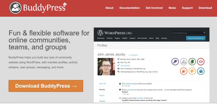 BuddyPress plugin
