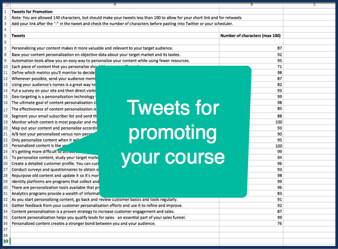 Personalized Content Marketing - Tweets