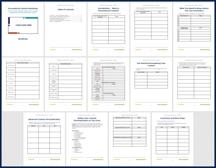 Personalized Content Marketing - Workbook