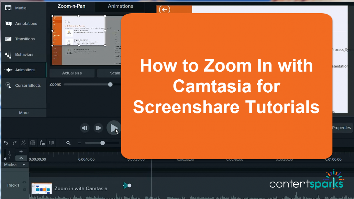 How to Use Camtasia to 'Zoom In' on Your Screenshare Tutorials