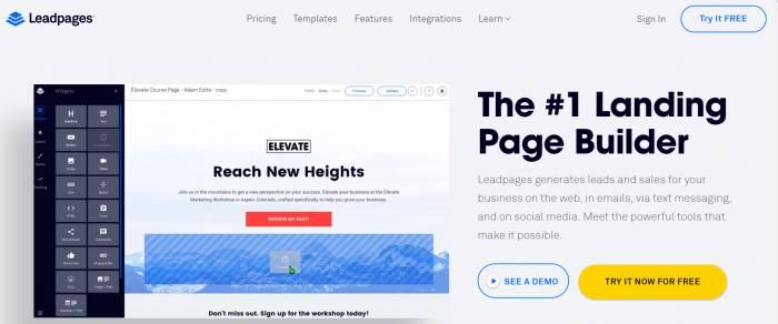 14 LeadPages buttons