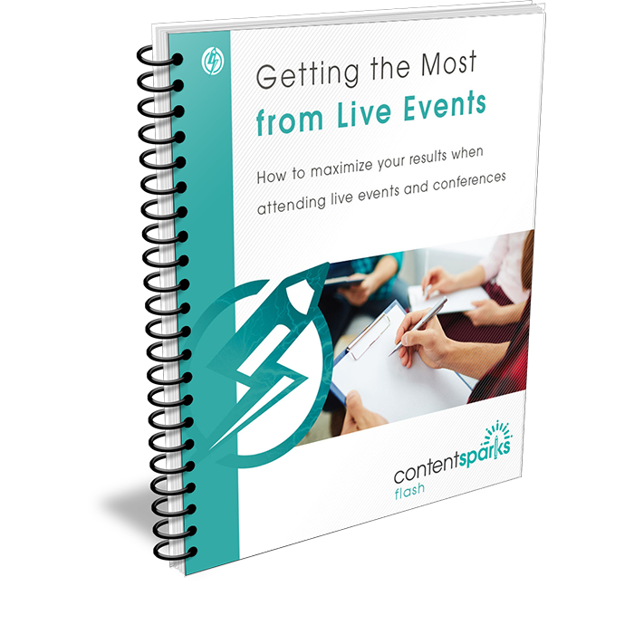 Get the most from attending live events