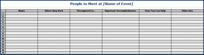 Getting the Most From Live Events People to Meet