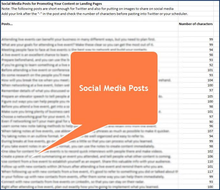 Getting the Most From Live Events Social Media Posts