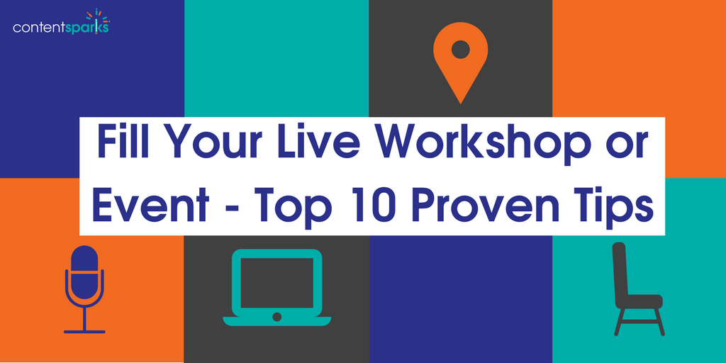 fill your live event or workshop
