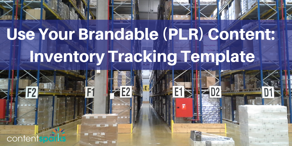 PLR Content Inventory Tracking