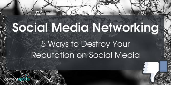 social media networking reputation