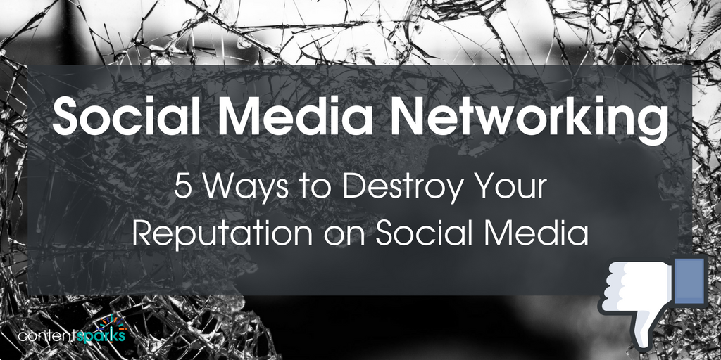 Social Media Networking – 5 Ways to Destroy Your Reputation on Social Media