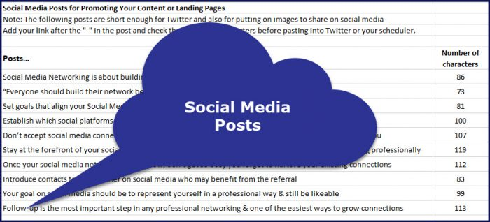 Using Social Media For Networking - Social Media Posts