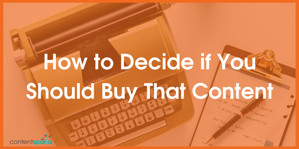 Content Buyer's Checklist: 5 Factors to Consider BEFORE You Buy Brandable (PLR) Content