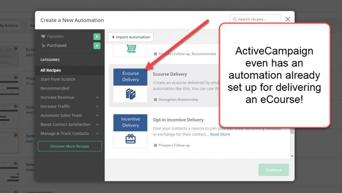 ecourse delivery automation