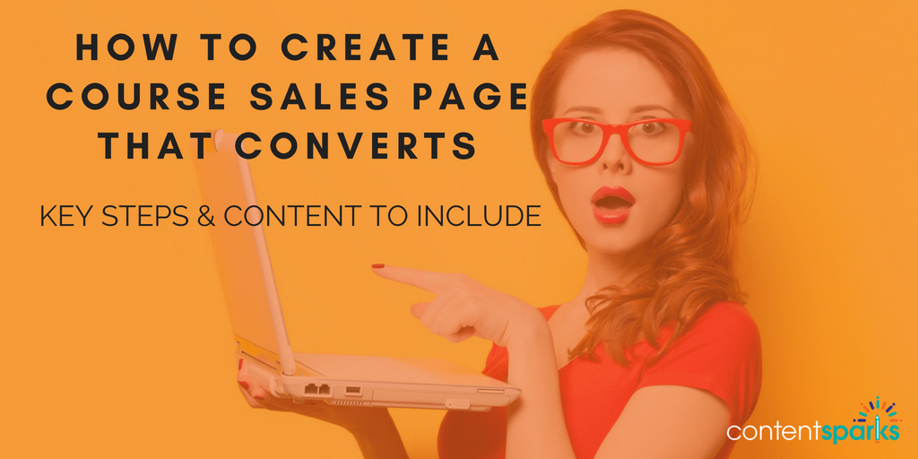 Create a course sales page that converts
