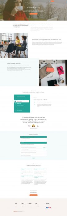 Teachable sales page design