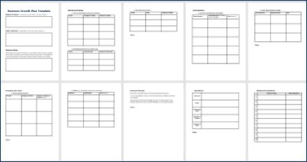 Create Your Business Growth Plan - Business Growth Plan Template