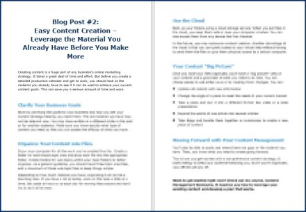 Content Management Bootcamp - Opt-In Blog 2