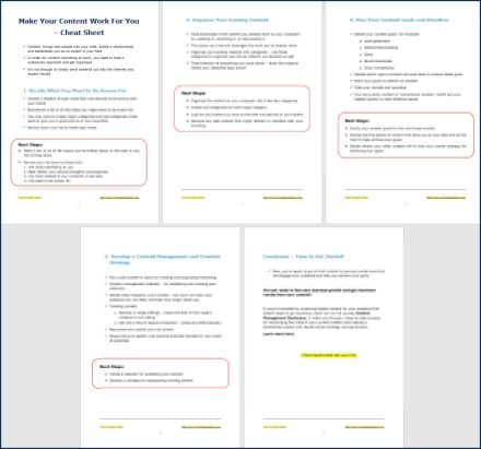 Content Management Bootcamp - Opt-In Cheat Sheet