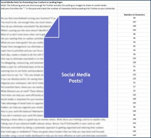 Eliminate Business Overwhelm - Social Media Posts