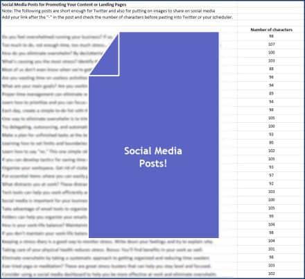 Eliminate Business Overwhelm Social Media Posts