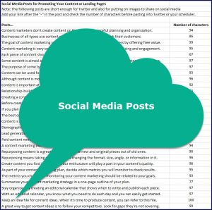 How to Create a Realistic Content Marketing Plan - Social Media Posts