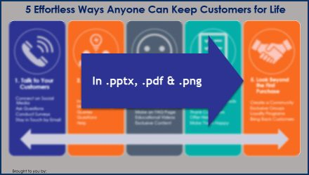 Keep Your Customers For Life - Opt In Infographic
