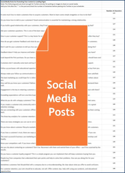 Keep Your Customers For Life - Social Posts