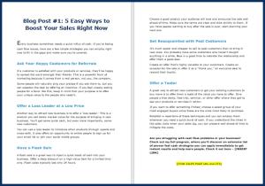 Fast Cash Strategies - Blog Post 1