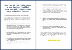 Fast Cash Strategies - Blog Post 3