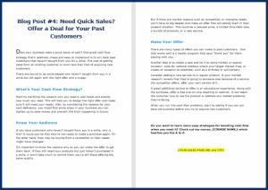 Fast Cash Strategies - Blog Post 4