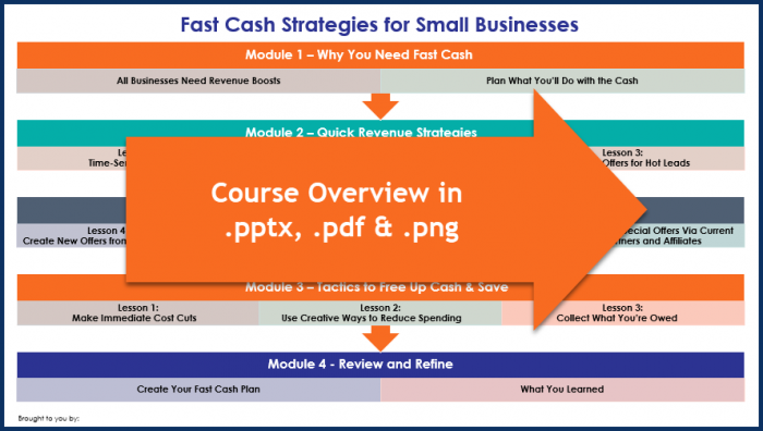 Fast Cash Strategies - Overview Infographic