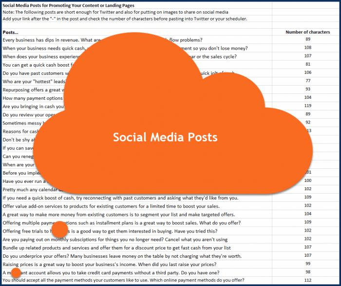 Fast Cash Strategies - Social Media Posts