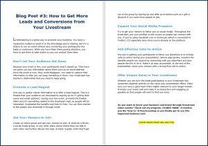 Live Video Marketing - Blog Post 3