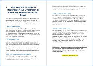 Live Video Marketing - Blog Post 4