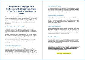 Live Video Marketing - Blog Post 5