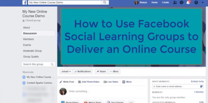 How to use Facebook Groups to deliver your online course