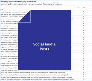 Build Your Audience Using Social Media - Social Media Posts