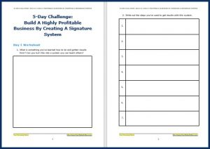 Create Your Signature System Upgrade - Challenge Worksheet 1
