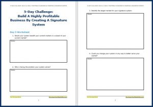 Create Your Signature System Upgrade - Challenge Worksheet 3