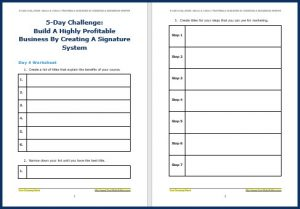 Create Your Signature System Upgrade - Challenge Worksheet 4