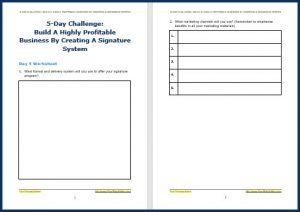 Create Your Signature System Upgrade - Challenge Worksheet 5
