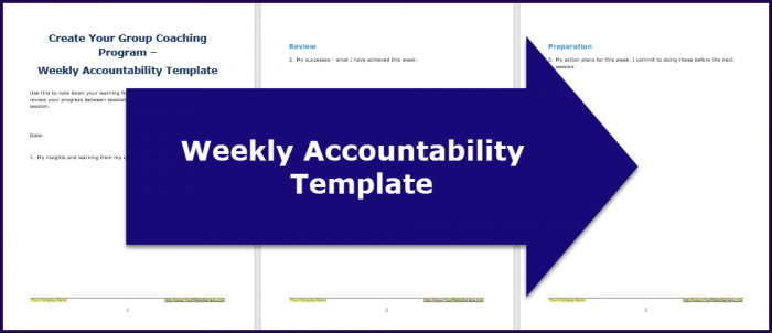 Create Your Group Coaching Program - Accountabilty Template