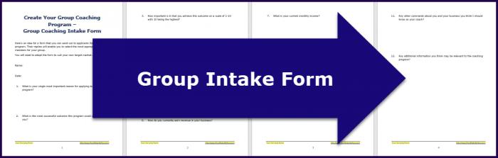 CreaCreate Your Group Coaching Program - Intake Formte Your Group Coaching Program - Questionnaire