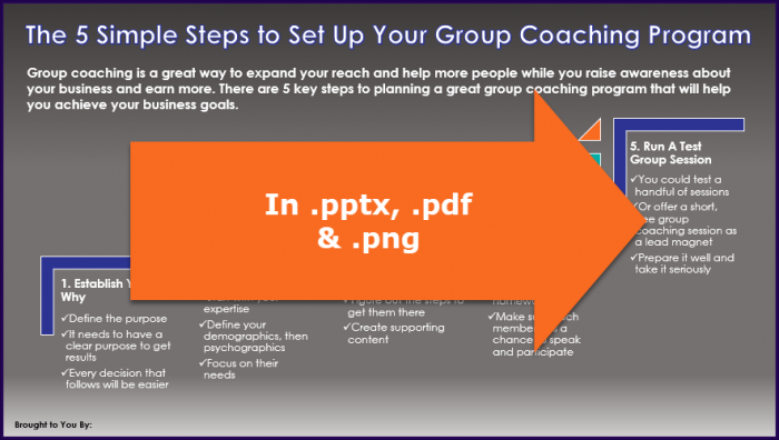 Create Your Group Coaching Program - Opt-In Infographic