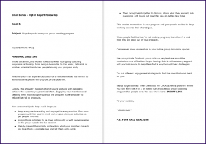 Create Your Group Coaching Program - Report FollowUp Email 6