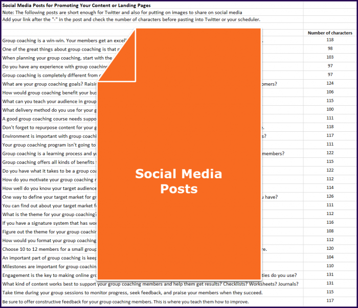 Create Your Group Coaching Program - Social Media Posts