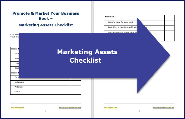 Promote & Market Your Business Book - Assets Checklist